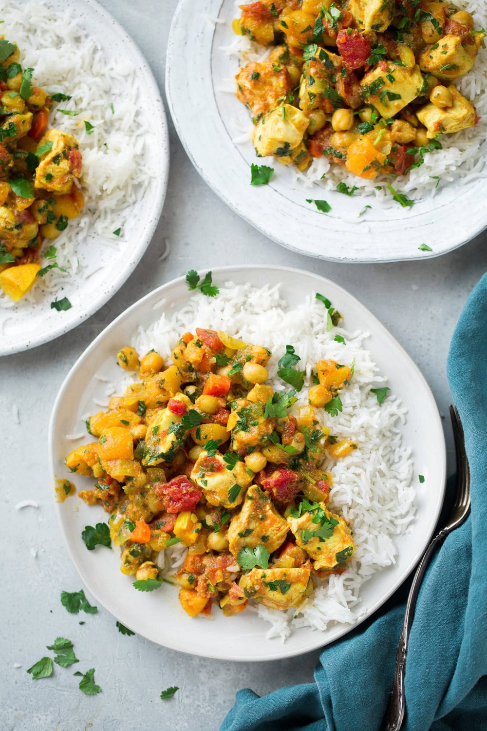 Slow Cooker Chicken and Chick Pea Tagine
