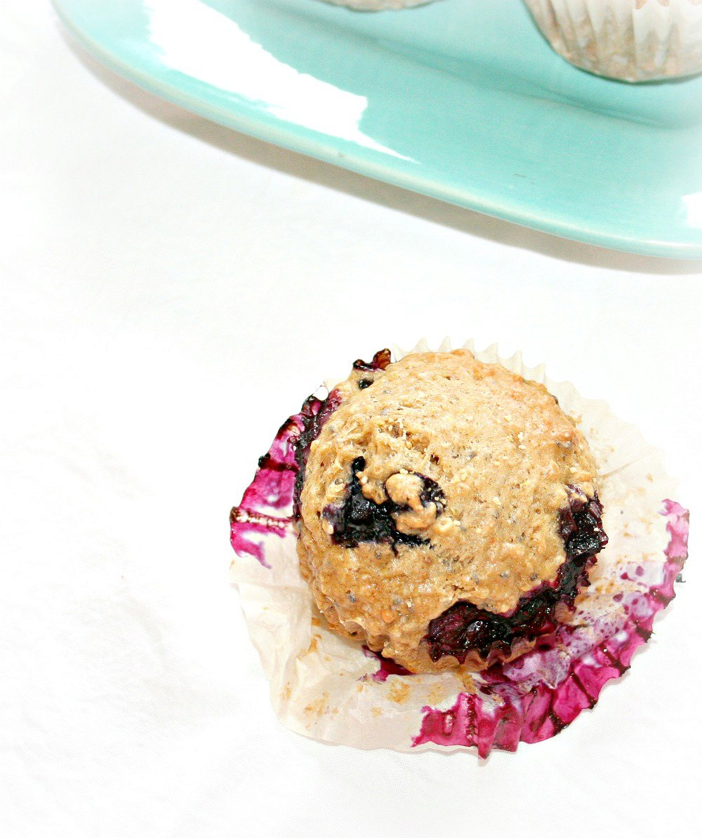 Blueberry Quinoa Muffins with Chia seeds