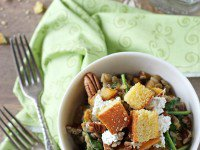 Fall Lentil Salad with Butternut Squash and Goat Cheese