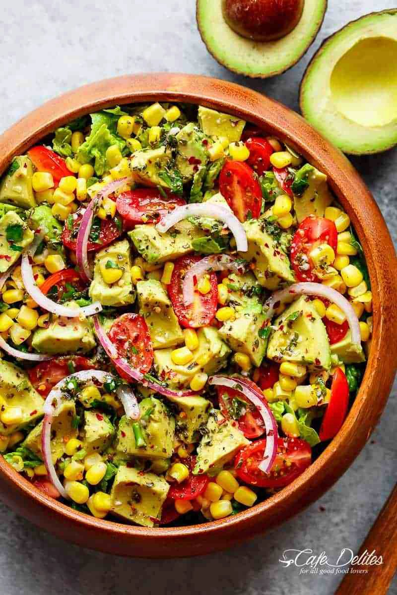 Avocado Tomato Corn Salad