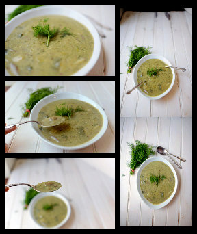 Potato and Leek Soup with Dill
