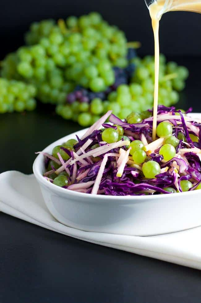 Grape, Apple and Red Cabbage Slaw