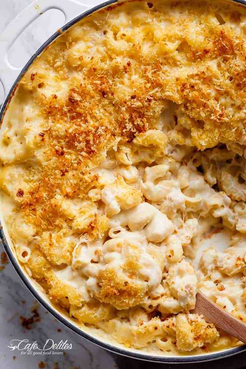Garlic Parmesan Mac And Cheese