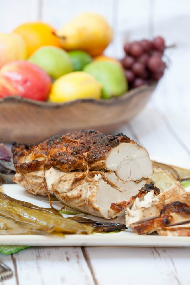 Healthy Ancho Chili Turkey Breast with Potatoes and Poblanos
