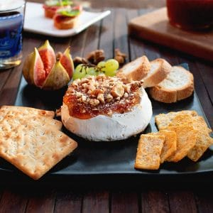 Easy Baked Brie with Fig Jam and Walnuts