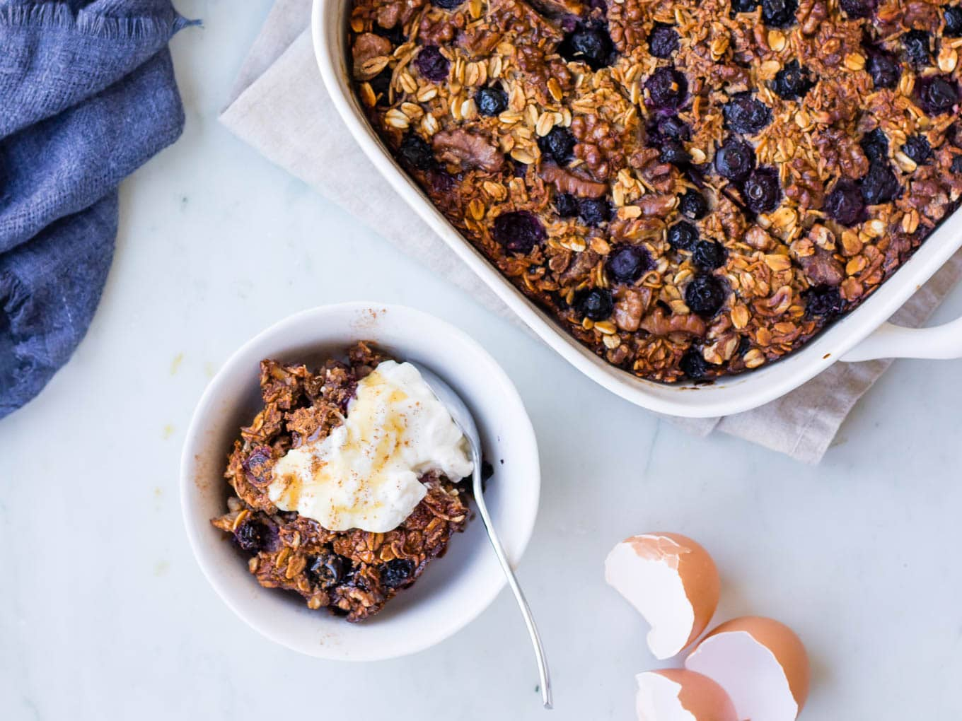 Coconut Blueberry Baked Oats