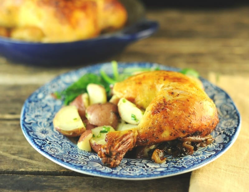 Flawless Roast Chicken with Sweet Onions